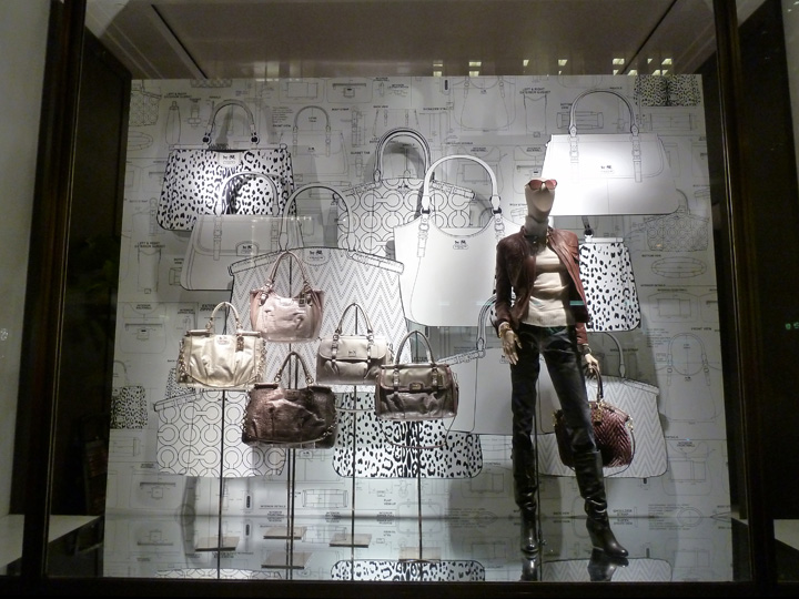 the windows at Coach in New York. Just simple, enlighted and graphic