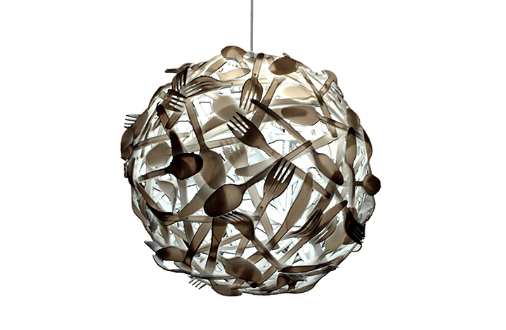 Gluttony suspension lamp by luis luna retail design blog - Recycled light fixtures ...