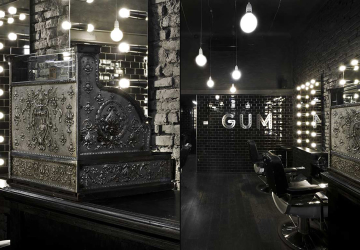 Gum hair salon milan retail design blog for Salon milan design