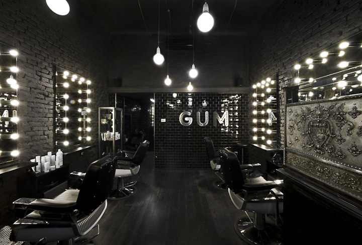 Gum hair salon milan for Salon milan design