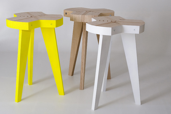 Bent plywood office chair - Bent Plywood Stool A Large Plywood Sheet Get Bent And Cut In Bars