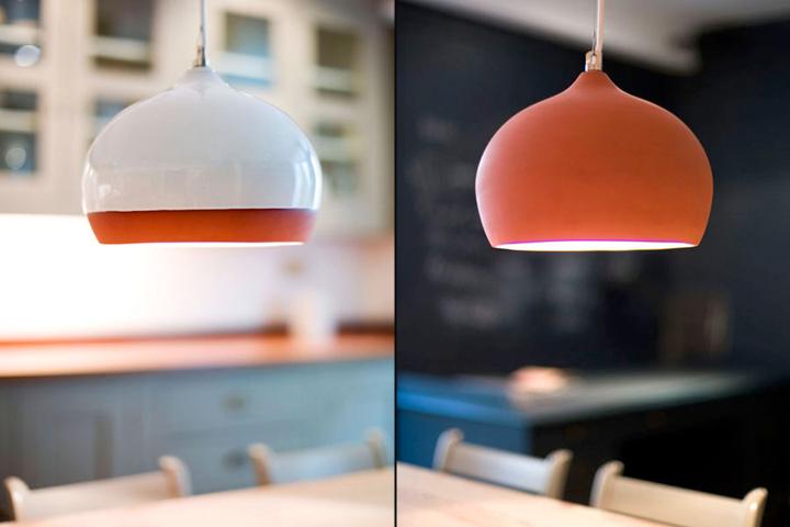 Terracotta pendant lamps by tom housden retail design blog the mozeypictures Choice Image