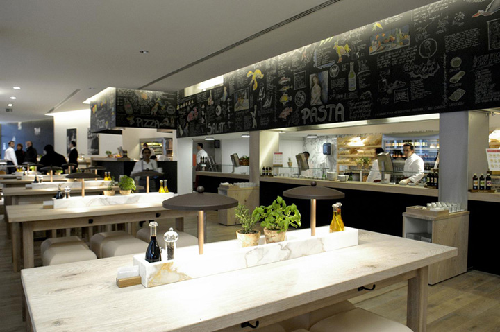vapiano slow food by matteo thun - Fast Food Store Design