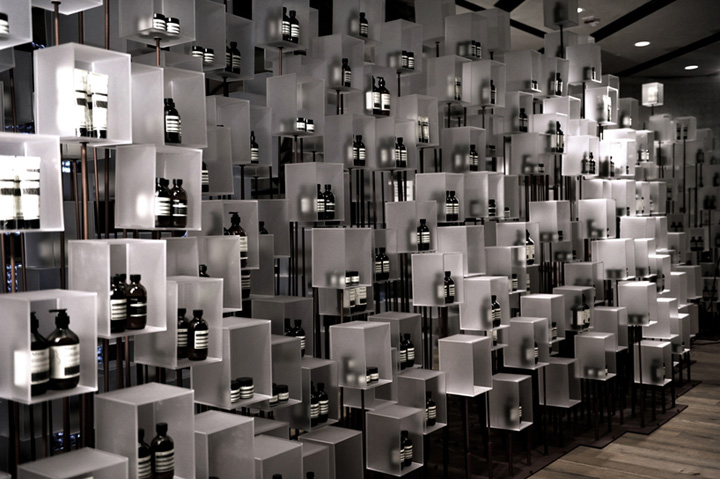 Aesop installation by Cheungvogl Hong Kong Aesop installation by Cheungvogl, Hong Kong