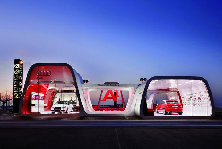 Exhibition Stand Spotlights : Audi area by schmidhuber partner barcelona