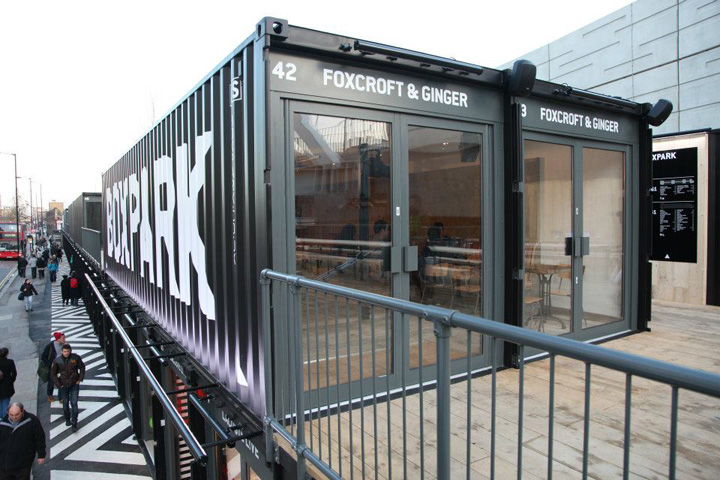 Boxpark by roger wade shoreditch london retail design blog for Projet container