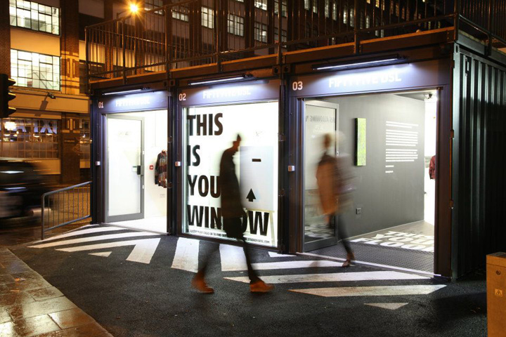 Boxpark by roger wade shoreditch london retail design blog for Household design shoreditch