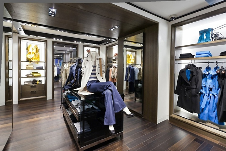 The new store will showcase Burberry London, Burberry Brit, and