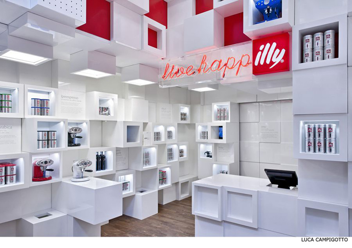 Illy temporary shop by Caterina Tiazzoldi Milan Illy temporary shop by Caterina Tiazzoldi, Milan
