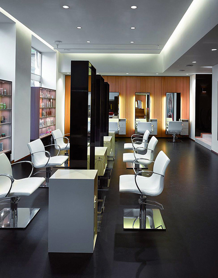 Petra mechurova hair salon prague retail design blog for Beauty salon layout
