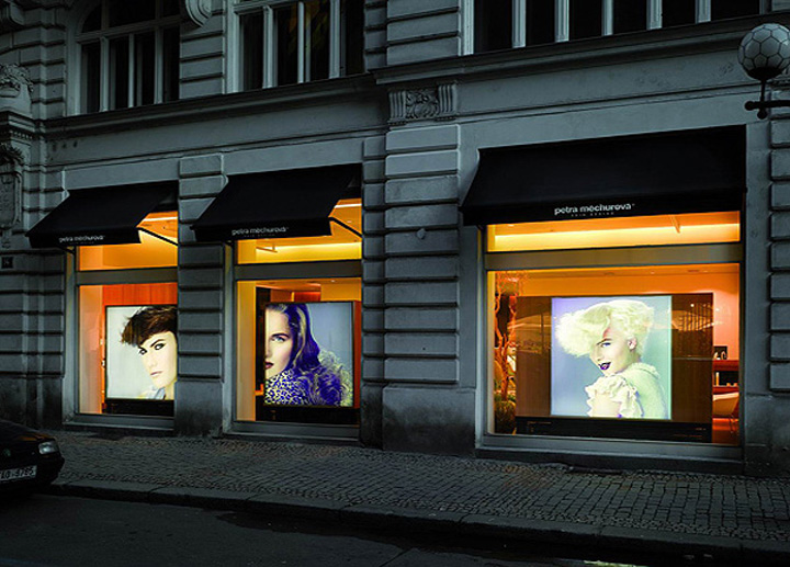Petra mechurova hair salon prague - Interior hair salon lighting ideas ...