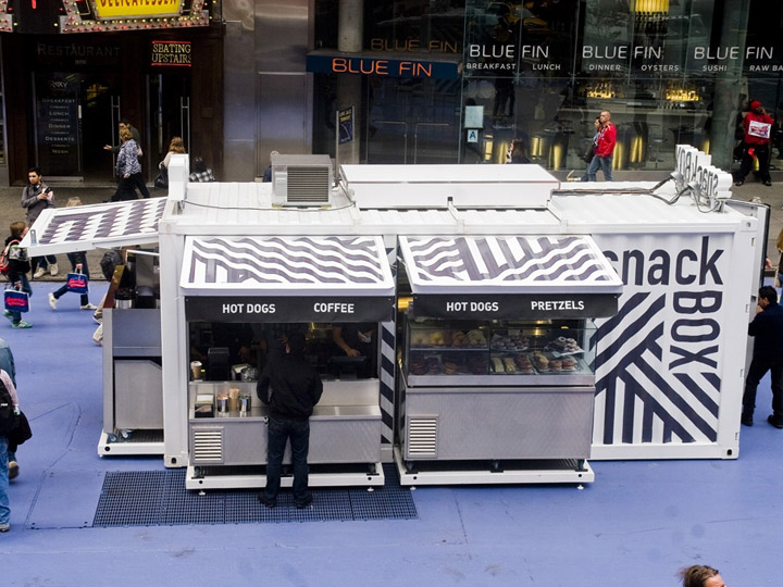 Shipping container retail design blog for Food bar nyc