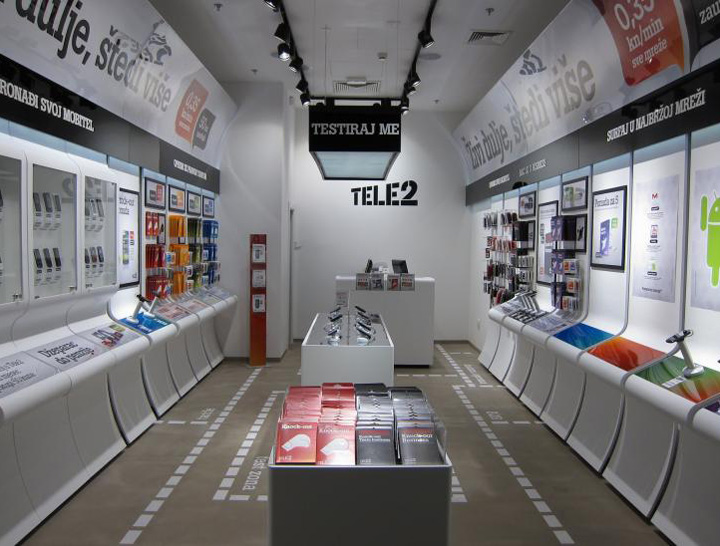 tele2 store concept by brigada - Retail Store Design Ideas