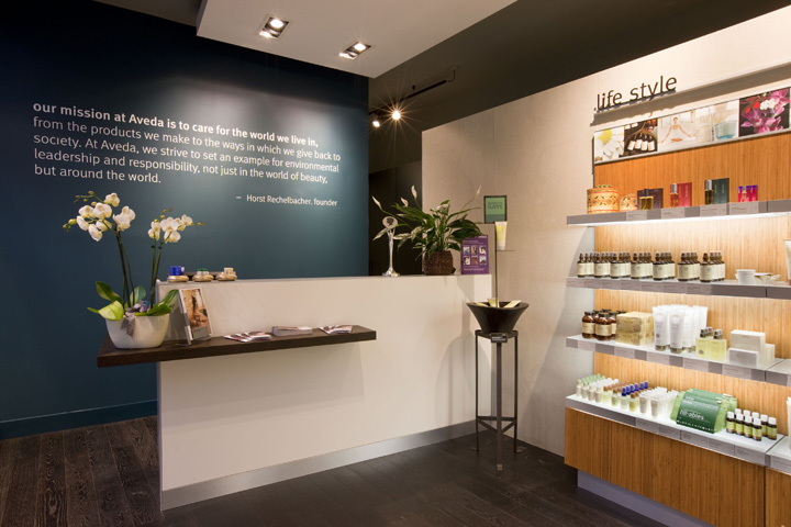 Aveda lifestyle salon spa flagship by reis design leeds for A mission statement for a beauty salon