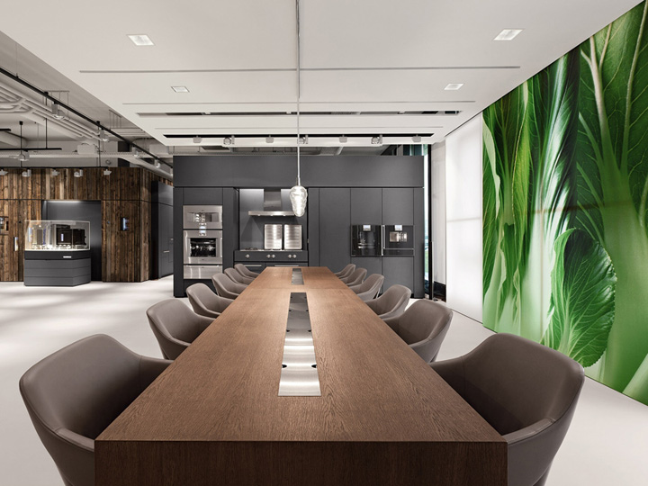Gaggenau showroom amsterdam retail design blog for Center table design for office