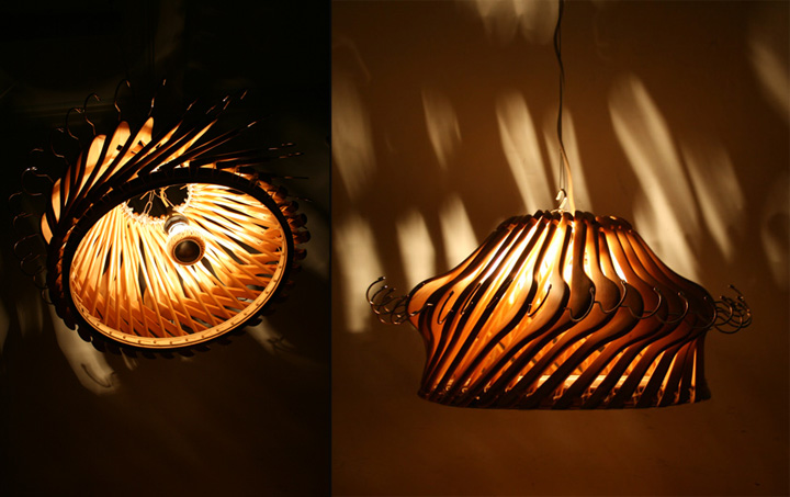 Hangelier 21 lighting Organelle Design 03 Hangelier 2.1 lighting from wooden hangers by Organelle Design