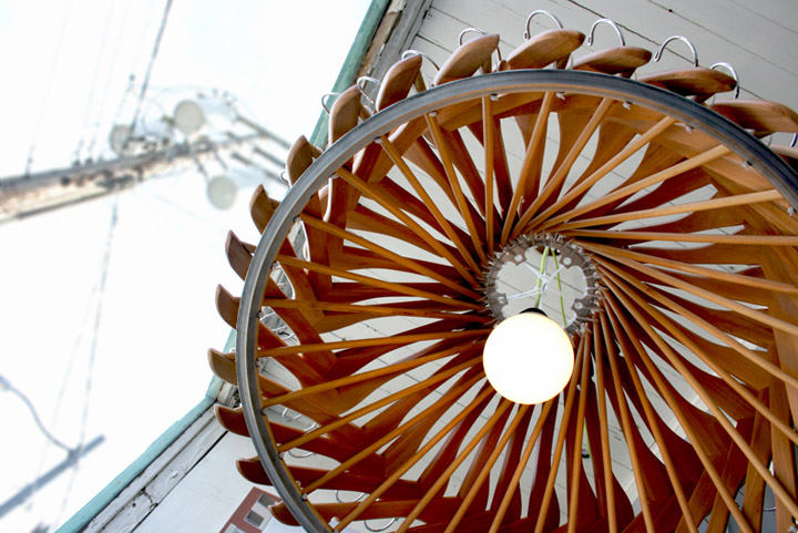 Hangelier 21 lighting Organelle Design Hangelier 2.1 lighting from wooden hangers by Organelle Design