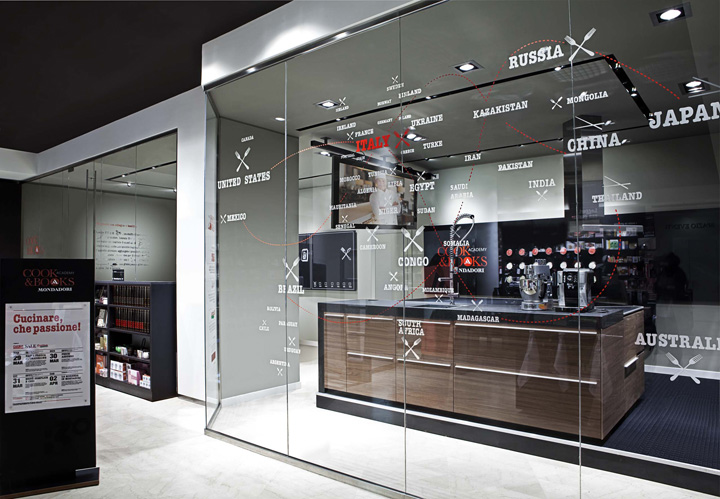 Kitchen Store Design Custom Mondadori Cook&books Shophangar Design Group Milan » Retail Decorating Design