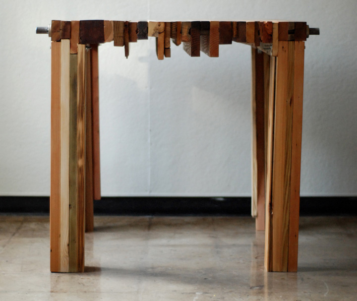 Reclaimed Wood Parsons Table By Brett Wagner Retail Design Blog