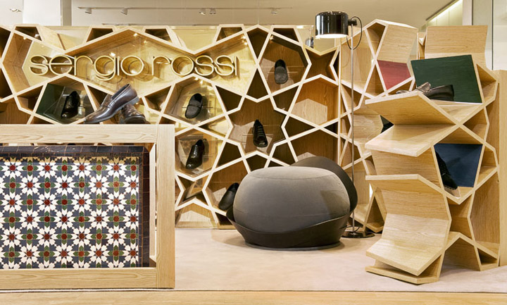 Sergio Rossi Younes Duret Design Casablanca Sergio Rossi Shop by Younes Duret Design, Casablanca   Morocco