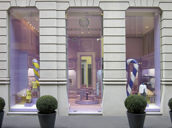 Young Versace 1st boutique Milan 03 Young Versace 1st boutique, Milan