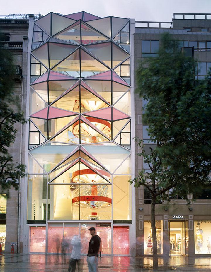 c42 citroen showroom by manuelle gautrand architecture paris retail design blog. Black Bedroom Furniture Sets. Home Design Ideas