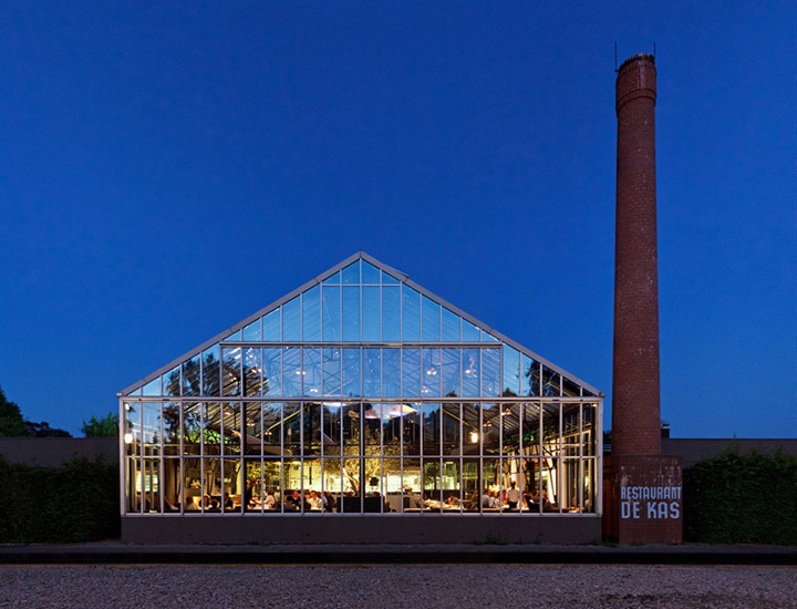 De kas restaurant amsterdam retail design blog for Planet express building layout