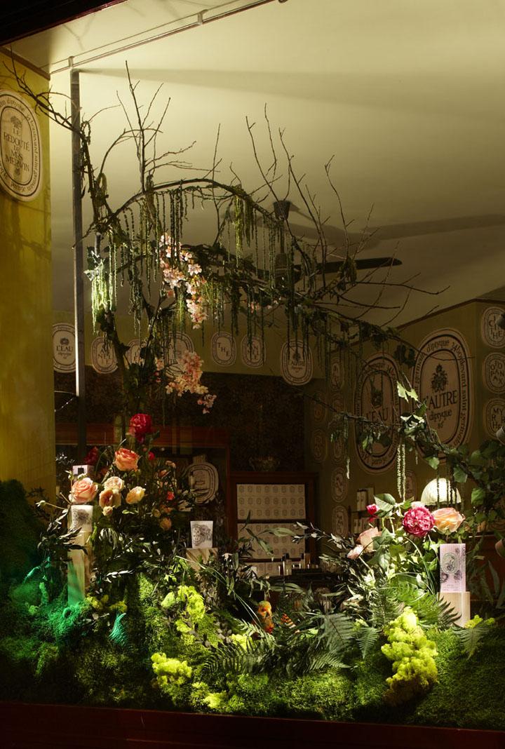 U00bb Diptyque Flower Window Displays By Alexandre Roussard  Paris