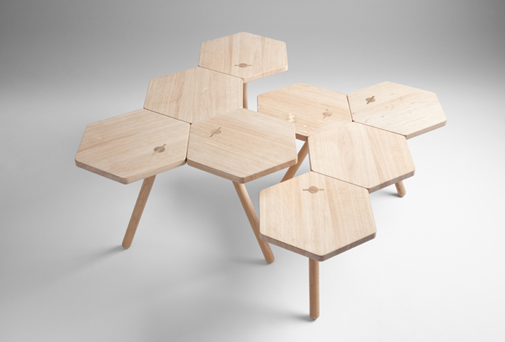 Lean tables by coordination retail design blog for Modular table design
