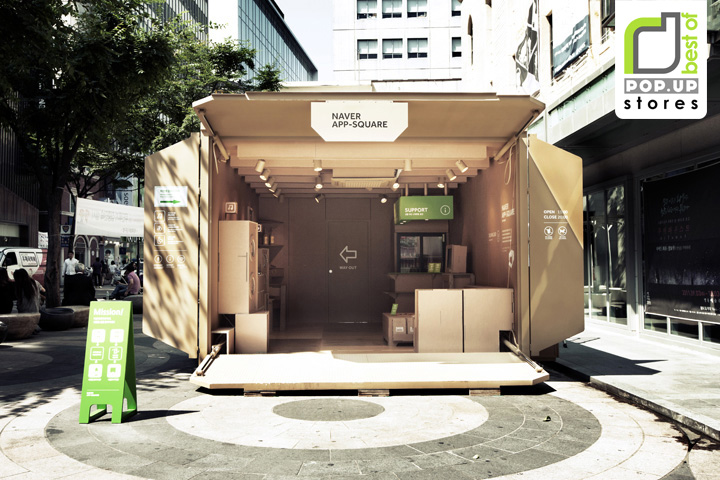 pop up naver app square pop up store by urbantainer seoul. Black Bedroom Furniture Sets. Home Design Ideas
