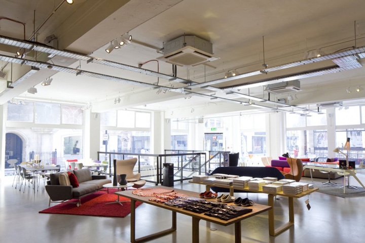 Republic of fritz hansen store by bdp london retail for Design services london