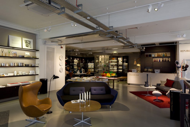Republic of fritz hansen store by bdp london retail Interior design stores london