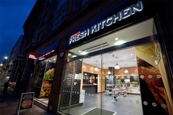 sainsburys fresh kitchen by twelve studio london retail design kitchen design