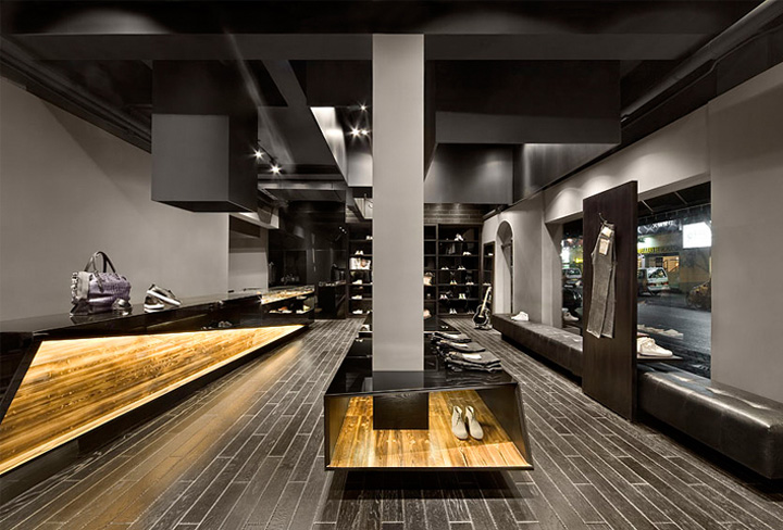 Aegis shanghai flagship store by coordination shanghai - Men s clothing store interior design ideas ...