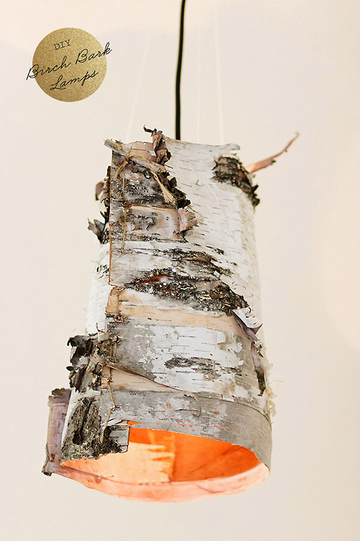 187 Birch Bark Lamps