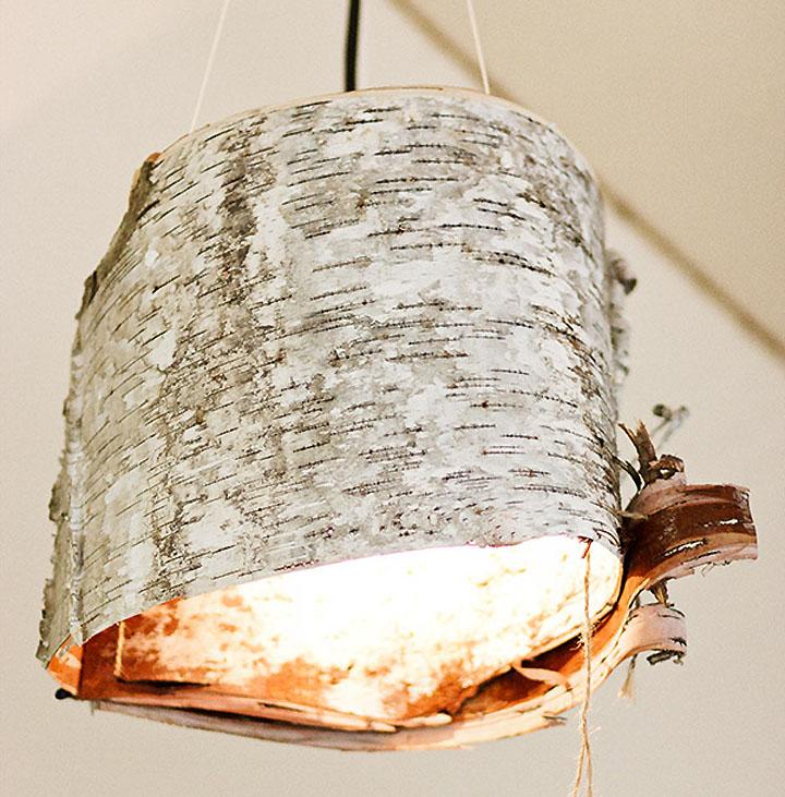 Birch bark lamps retail design blog birch bark lamps mozeypictures Gallery