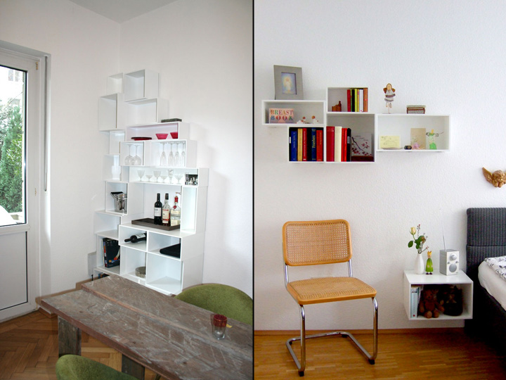 Cubit modular shelving system by MYMITO » Retail Design Blog