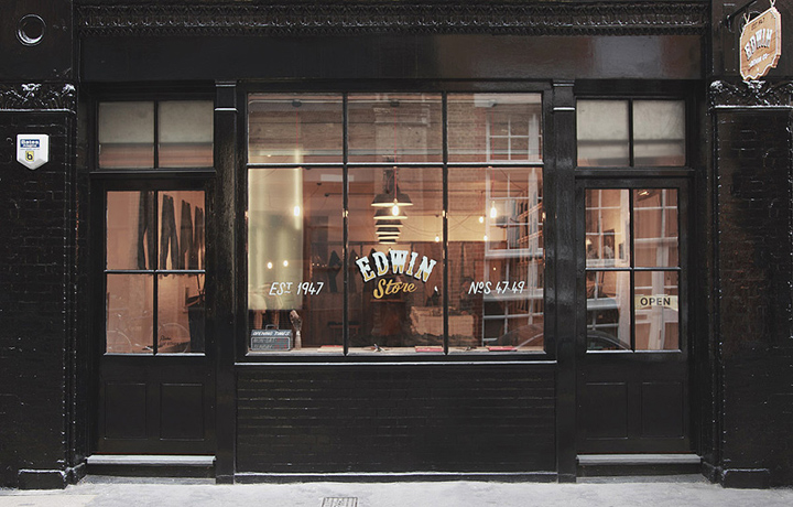 Edwin store london retail design blog for Retail shop exterior design