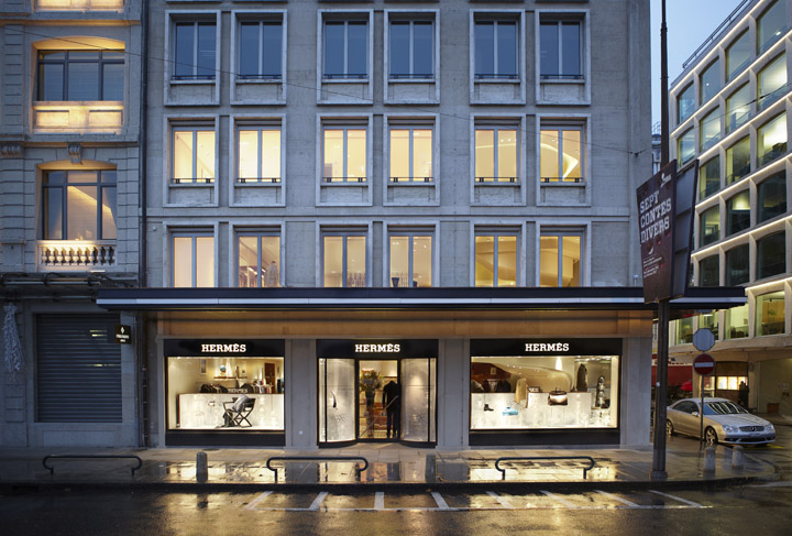 herm s flagship store by rdai geneva retail design blog