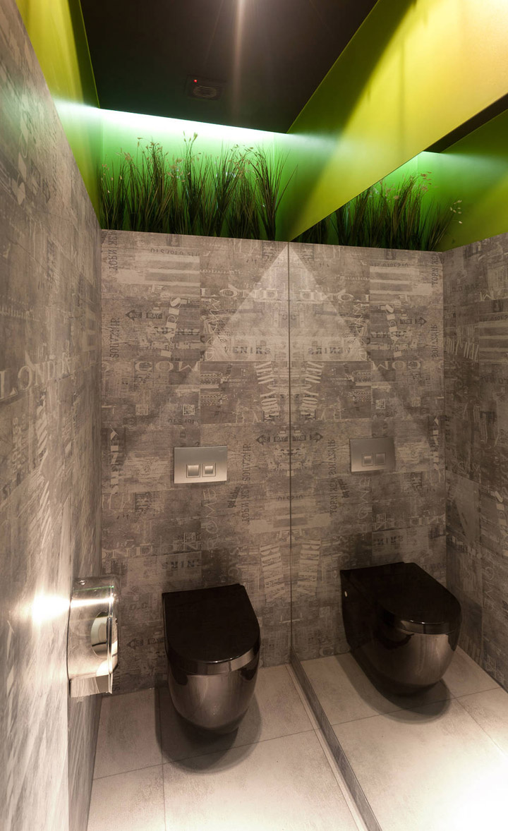Hot paper restaurant by wamhouse tczew poland - Restaurant bathroom design ideas ...