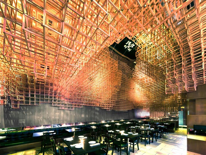 Innuendo restaurant by bluarch architecture new york for Unique hotels nyc
