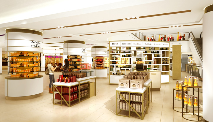 John lewis oxford street beauty hall concept by gpstudio for John lewis design service