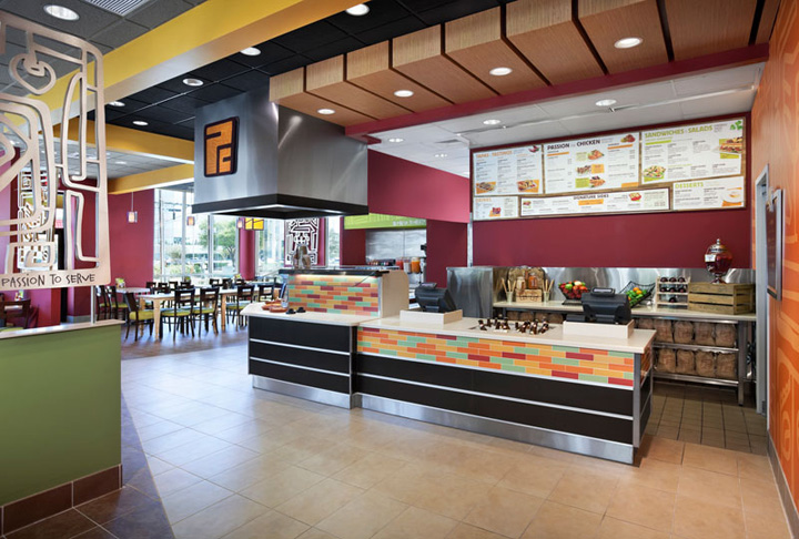 Pollo campero by interbrand design forum webster texas retail design blog Kitchen design for fast food restaurant