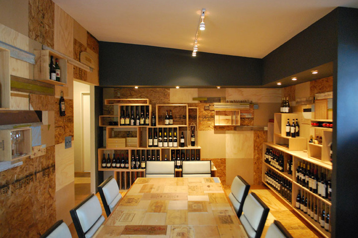 Wine stores the little wine market by los contratistas for Luma arredamenti
