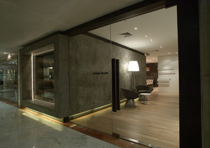 Wine stores artisan cellars by asylum singapore retail design blog - Small retail space collection ...