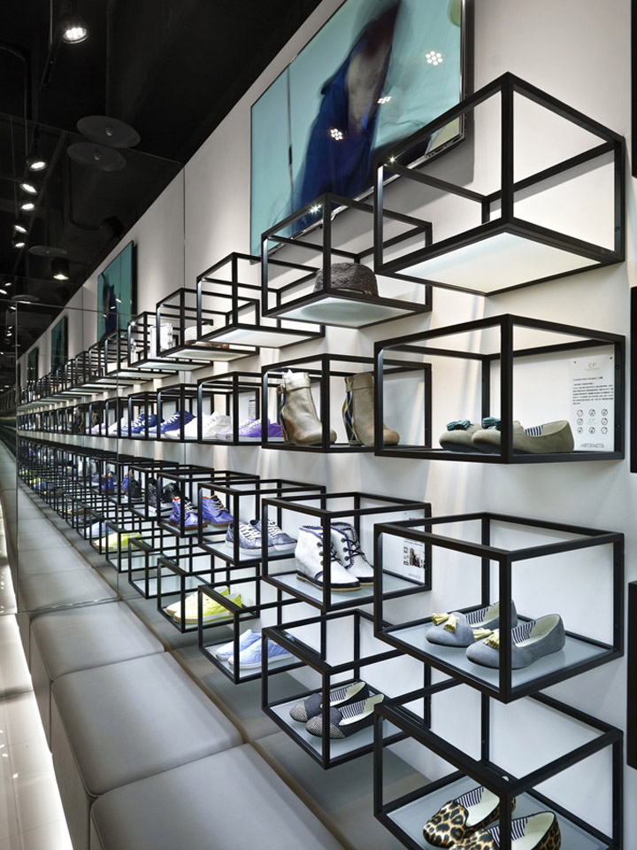 Artifacts nanshi store by straight square design taipei retail design blog for Interior design for shoes shop