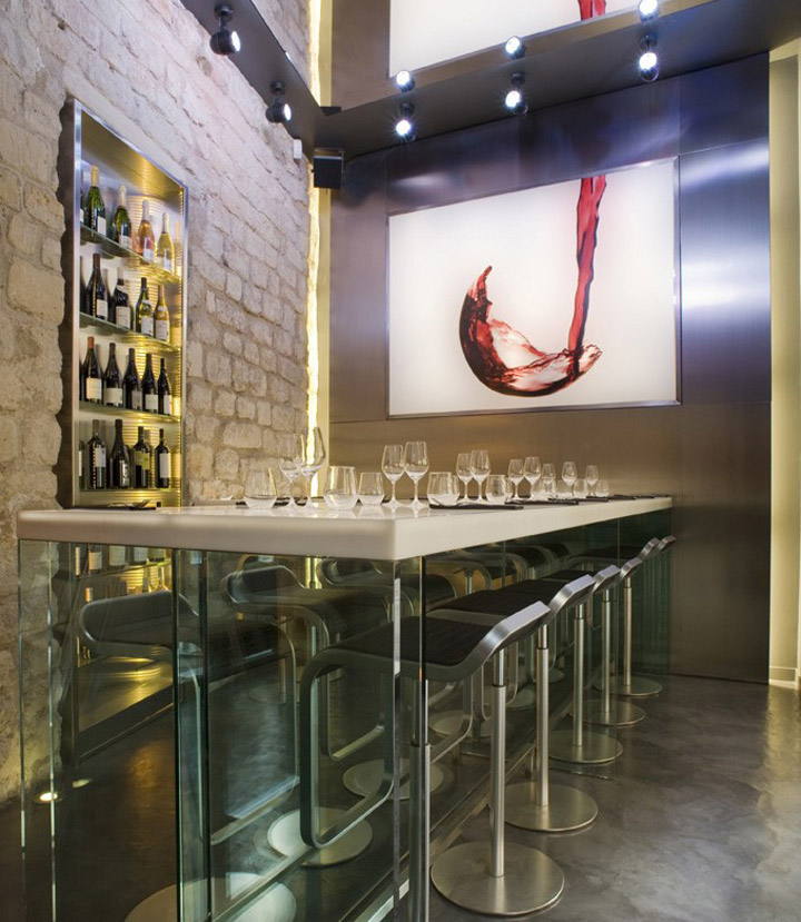 la cave a vin 9 wine bar by cyrille druart paris. Black Bedroom Furniture Sets. Home Design Ideas