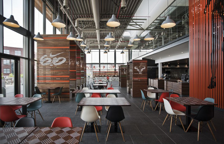 Working alongside the Nike design team, UXUS created a space utilizing ...