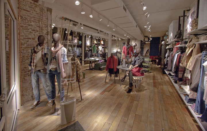 pepe jeans london flagship store by francisco segarra amsterdam. Black Bedroom Furniture Sets. Home Design Ideas