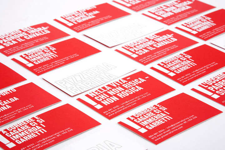 Pizzeria Farina identity design Glasfurd Walker 04 Pizzeria Farina identity & design by Glasfurd & Walker